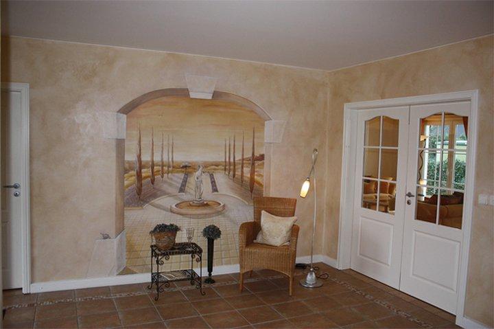 Wandmalerei Flur