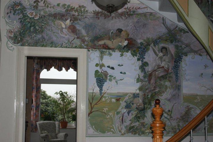 wandmalerei Treppenhaus Augsburg