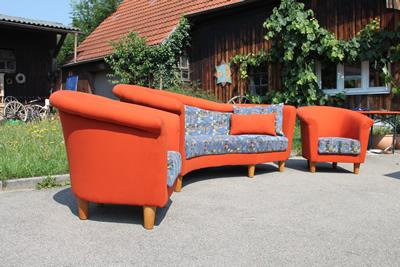 garibaldi designsofa und 2 sessel aufgearbeitet und neu bezogen. Black Bedroom Furniture Sets. Home Design Ideas